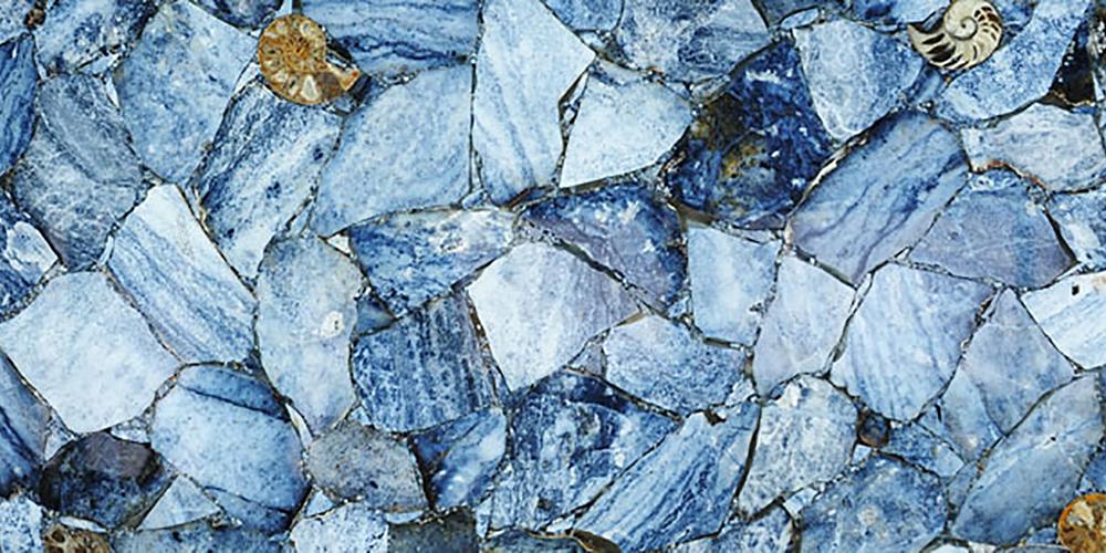 Akam Agat Fossil Blue